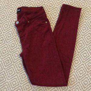 Hudson skinny jeans size 29 in crimson